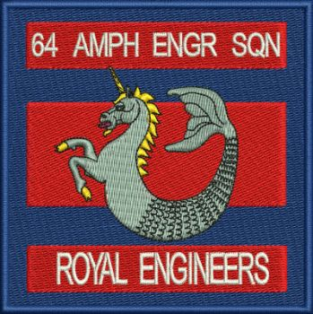 64 AMPH ENGR SQN Embroidered badge